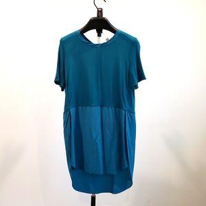 WILFRED   Silk Teal t-shirt sz XS